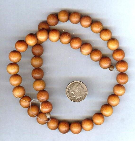 Stunning High Quality MATTE Sibucao - Redwood Wood Beaded Bracelet or Necklace