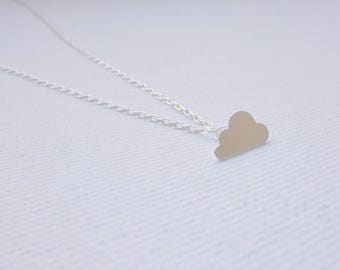 Sterling silver necklace with silver plated cloud - Cloud 9
