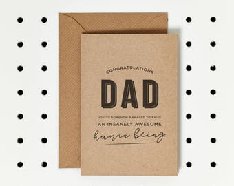 Insanely Awesome - Father's Day Card - Dad Birthday Card - First Father's Day - Funny Father's Day Card