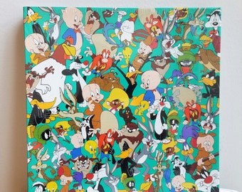 "Vintage Puzzle ""What's Up Doc?"" Looney Tunes Cartoon Characters By Springbok 500 Pieces Complete Sealed Box 1994 Bugs Bunny Porky Pig Tweety"
