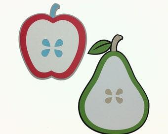 Fruit SVGs, Pear SVG, Apple SVG