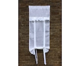 Custom 'Ivory' Tie Up Curtains 2 x 26 wide x 70 tall inches (No Ruffle)