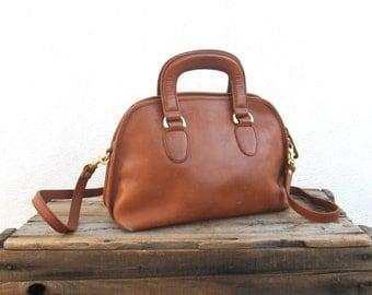 90s Satchel Handbag Leather Tote w/Shoulder Strap