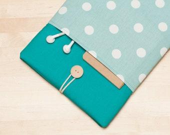 iPad Pro 12.9 sleeve, iPad Pro 12.9 case, 12.9 inch iPad Pro case,  iPad Pro cover - Dots in teal
