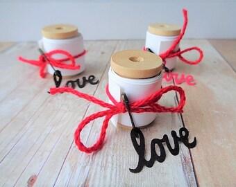 Secret Message Tags Love Notes Valentine's Day Secret Admirer Wood Bobbin Spool