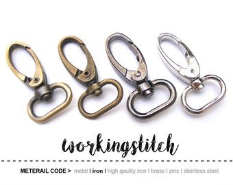 4 pcs 20mm(inside) Trigger Snap Hook Clasp For FOB  Keychains, Bag, Purse and Craft Making Lobster Swivel Clasps