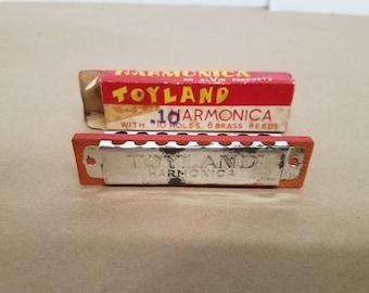 Vintage Toyland Childs Harmonica