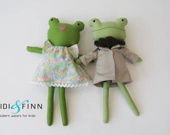 SALE Mini Pals Frogs easter soft rag doll plush keepsake gift green froggie OOAK ready to ship