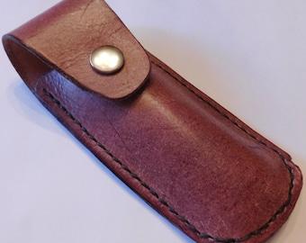 Leather Pocket Knife Sheath Knife Belt Sheath LeatherTool Holder Groomsman Gift