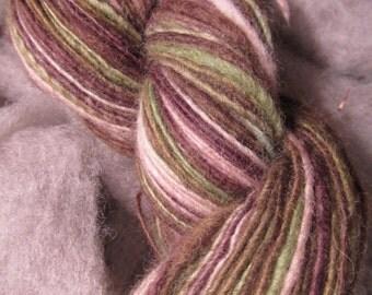 Hand Dyed and Hand Spun Shetland wool singles yarn
