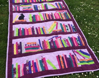 Bespoke personalised modern heirloom quilt, single bed size