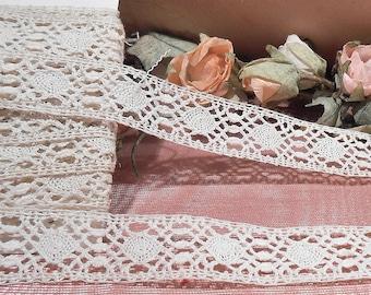 Vintage 1930s Cotton Lace Trim Craft Supply