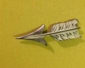 Arrow Pin 40's Pot Metal Arrow Pin or Mod Tulip Vintage Pin Lapel Pin or Hat Pin Arrow Collectible Pin