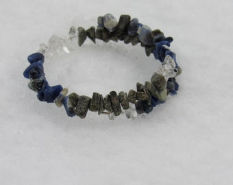 Sodalite, Zebra Jasper and Quartz Bracelet, Joy Through Purpose, Healing Stones Energy Bracelet, gemstone synergy