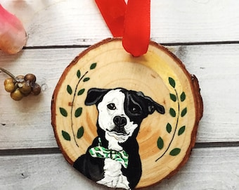 Pet Ornament- Pet Memorial Ornament- Dog Ornament- Cat Ornament- Personalized Pet Ornament- Wood Ornament- Holiday Ornament- Pet Loss Gift