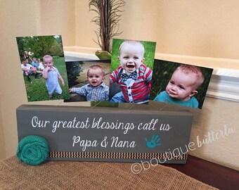 gift for grandparents grandma nana papa great grandma gigi mimi frame grandpa grammie granny frame handmade personalized picture frame