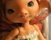 Fairy Ivy - tan resin - Artist edition one of a kind fairy - BJD ball joint doll