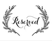 Reserved for Emily Cottrell