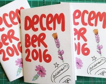 Dicembre 2016 arte Zine Sketchbook