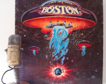 "ON SALE Boston Vinyl Record Album 1970s Classic Rock Guitar Electric Guitar Tom Scholz ""Boston"" (1976 CBs w/""More Than A Feeling"", ""Piece Of"
