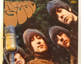 "The Beatles ""Rubber Soul"" Vinyl Record Album 1960s Rock (1976 Orange Capitol Records Re-Issue w/""Norwegian Wood"" & mismatched cover/vinyl)"