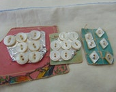 Twenty Small Mother of Pearl Buttons
