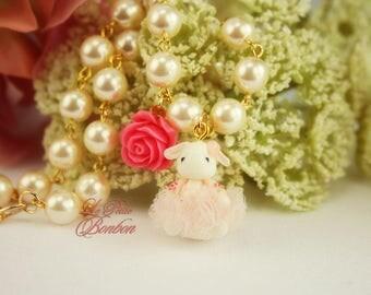 Ballerina bunny necklace