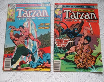 Tarzan Lord of the Jungle Comic Books - Set of 2 by EDGAR RICE BURROUGHS 1970s