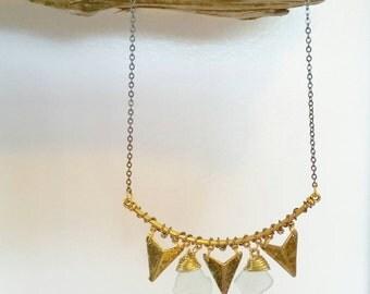 Seneca Lake Beach Glass Statement Necklace