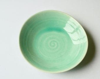 Simple elegant teal bowl