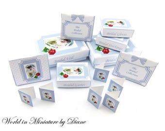 Dollhouse PDF Wedding Boxes, Dollhouse Digital Download Boxes 1:12 Bridal Boxes Kit, Miniature Wedding Boxes, Grey Gift Boxes