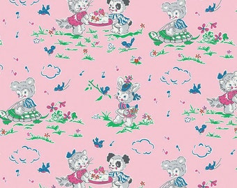 Riley Blake Designs Strawberry Bisquit Play Date Pink Fabric - 1 yard