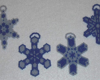 Beaded Snowflakes Ornaments #46 Kaleidescopes Gift Party Favors Wedding Christmas Stocking Stuffers Kids Adults