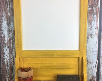 Rustic Weathered Yellow, Dry Erase Board, Restaurant Decor, Menu Board, To Do List, Message Board, Rustic Decor, Daily Specials, Home Decor