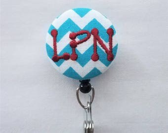 RN or LPN Retractable Badge Reel/ Specialty Occupation /Name Badge Holder by Flowersaks