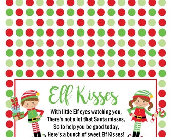 Peaceful image intended for elf kisses printable