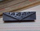 Art Nouveau Leaves Metal Print Block Stamp