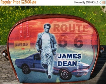 DEAD STOCK 1980s James Dean Small 3 Way  Purse With Rhinestone Embellishment Two Extra Straps