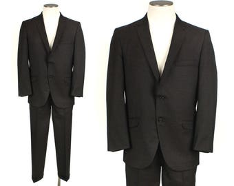 vintage 1960s sharkskin suit • size 40