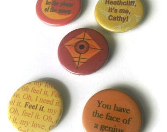 Kate Bush badges or magnet set of 5 - THE KICK INSIDE -  pins buttons stocking filler men gift Etsy uk