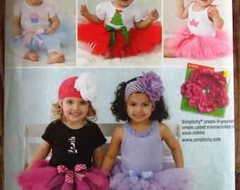 Baby Girls Tutu and Appliques Sizes XS S M L Simplicity Pattern 1956 UNCUT