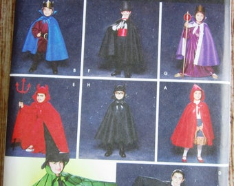 Childs Cape, Robe and Headpieces Costumes Sizes S (2-4) M (5-6) L (7-8) Simplicity Pattern 5927 UNCUT