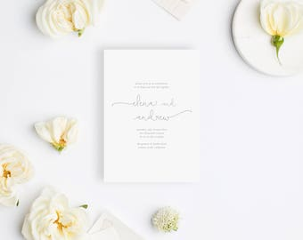 Wedding Invitation Sample - The Elena Suite