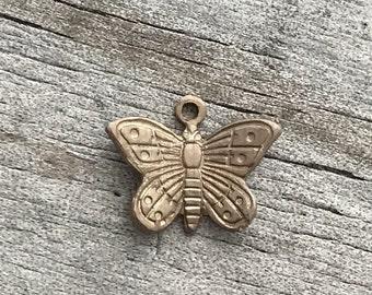 Destash Butterflies 10mm Vintaj Brass Jewelry Supply
