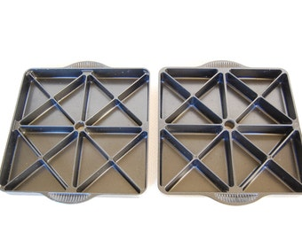 Choice of 2 Nordic Ware Mini Scone Pans Heavy Cast Aluminum Scones Pan Perfect for Corn Bread and Brownies