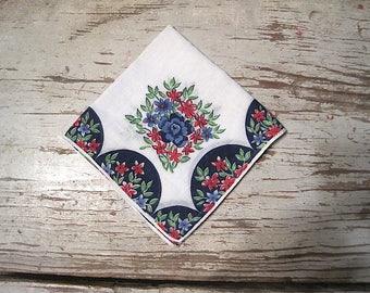 Vintage Ladies Cotton Handkerchief
