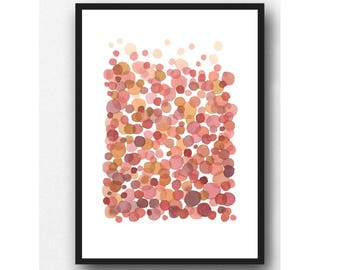 Nursery wall art, Abstract watercolor painting pink watercolor print, pink, nursery room decor