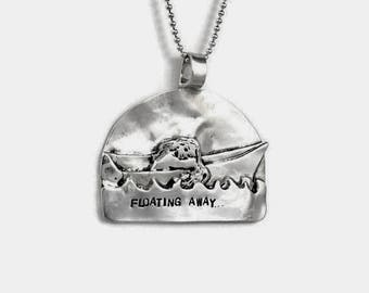 Inspirational Silver Jewelry, Jewelry With Meaning, Unusual Jewelry Gift For Women, Robin Wade Jewelry, Adalyn Floats Away, Pendant,  2340