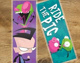 Invader Zim Laminated Bookmark