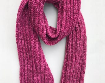 HERITAGE: Hand Knit One Of A Kind Wool Blend Scarf